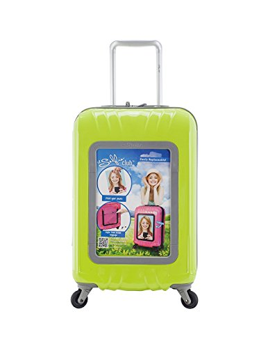 Travelers Club 20' Personalized Carry On W/360 Degree 4-Wheel System, Lime, One Size