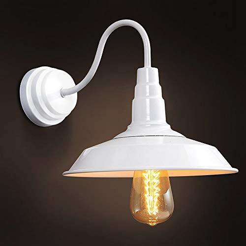 Maxmer Apliques de Pared Luz Vintage Industrial Lámpara de Pared, Casquillo E27, Color Blanco