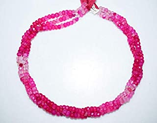 hot pink chalcedony beads