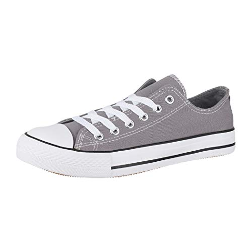 Elara Unisex Sneaker Low top Turnschuh Textil Chunkyrayan 01-A-XG200 Gun-38