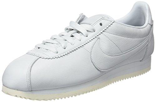 Nike Classic Cortez Prem, Chaussures de Gymnastique Homme Blanc (Off White/Off White/Black/Sail 102) 49.5 EU