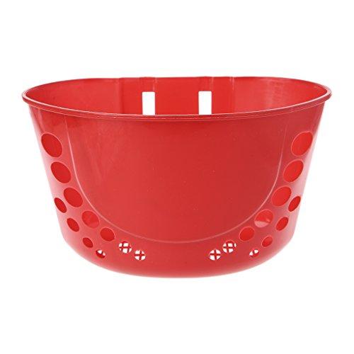 SIQIMI - Cesta de plástico para Bicicleta para niños, 5 Colores, Infantil, Rojo