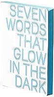 nuunaグラフィックL 7語that glow Smooth Bondedレザーノートブック–ホワイト