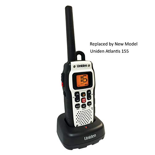 Price comparison product image Uniden Atlantis 150 Handheld Floating WaterProof IPX8 / JIS8 Level Submersible Two-Way VHF Marine Radio. (Discontinued by Manufacturer,  Replaced by Uniden Atlantis 155)