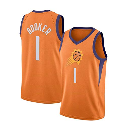 ZRHZB Phoenix Suns-Devin Booker Klassische Erwachsene Basketball Jersey Herren Jersey Squad Basketball Jersey,B,XXL
