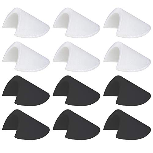 6 Pairs 1/2'' Shoulder Pads Sewing Set-in Shoulder Pads Foam Pads for Blazer T-Shirt Clothes