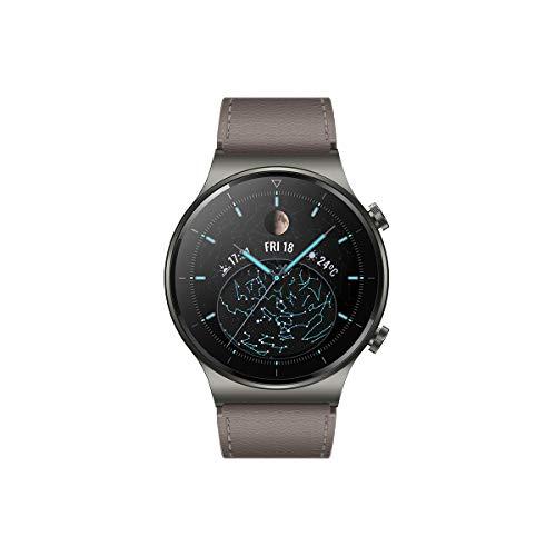 HUAWEI WATCH GT 2 Pro - Smartwatch con pantalla AMOLED de 1.39', hasta dos semanas de batería, GPS y GLONASS, SpO2, +100 modos de entrenamiento, llamadas bluetooth, color gris