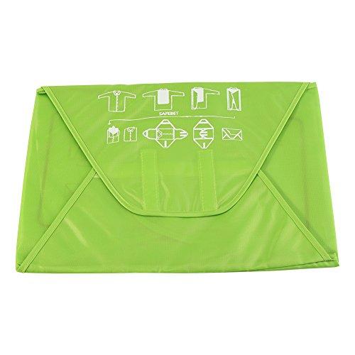 Previene rughe camicia borsa portaoggetti da viaggio pieghevole anti piega camicie pantaloni abbigliamento imballaggio organizer portaoggetti Green