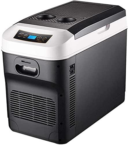 showyow Mini refrigerador para automóvil, refrigeración de Doble núcleo de 28 litros, Mini refrigerador portátil con compresor, congelador, Temperatura mínima de la habitación, Caravana