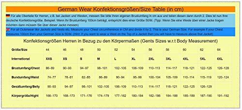 German Wear Leder Motorradjacke Oldschool Retro, Schwarz/Weiss, 60 - 4