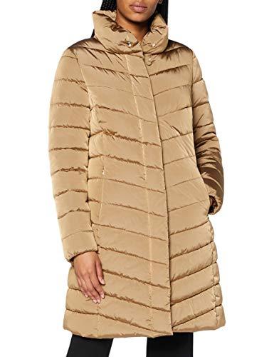 Geox W SEYLA Coat Chaqueta, Bronce Dorado, 42 para Mujer