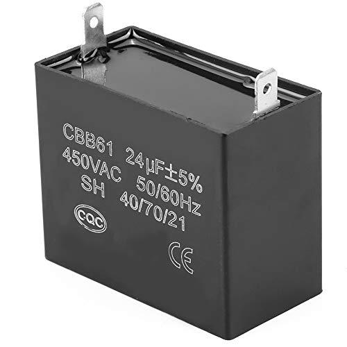 450 V CA 24 uF Condensador de generador de gasolina pequeño, CBB61 Condensador de funcionamiento para motor de ventilador
