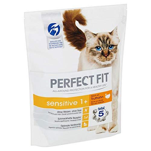 PERFECT FIT Katzenfutter Trockenfutter Sensitive 1 + reich an Truthahn
