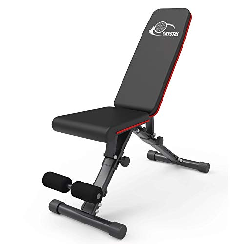 LAZ Foldable Incline Abdominal Bench Sit-Up Exerciser Adjustable Bench Abdominal Twister Trainer Workout Equipment Machine Home Gym with Rowing Machine