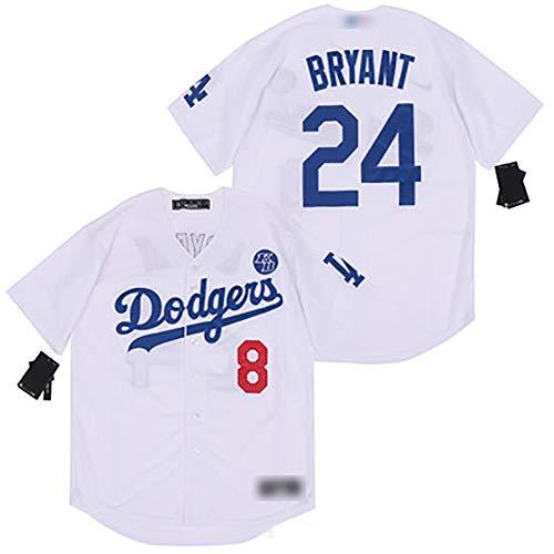 TIEON Dodge Baseball Uniform Nr. 24, Sommersportbekleidung, Stretch- und atmungsaktiver Stoff, Spieleruniformen, Sportbekleidung für Fans B-M