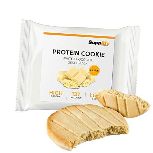 Protein Cookies nur 137 kcal White Chocolate wie Proteinriegel mit Whey Eiweiß 6x 40g Riegel