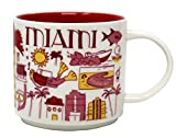 Starbucks MIAMI Been There Series Across The Globe Collection Ceramic Coffee Mug