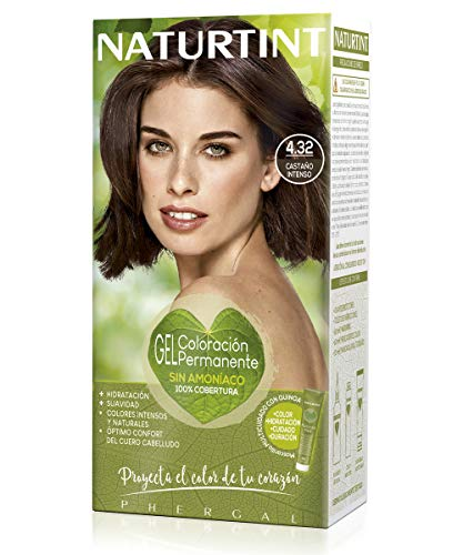 Naturtint | Haarfarbe Oohne Ammoniak |Hoher Anteil an natürlichen Inhaltsstoffen | 4.32. Intensive Kastanie | 170ml