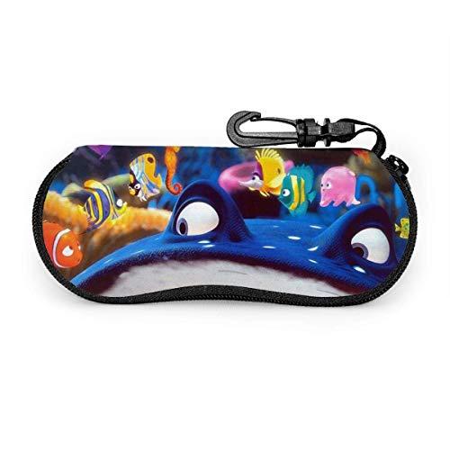 Buscando Nemo - Funda impermeable con mosquetón para gafas de seguridad con cremallera, gafas de sol portátiles, funda suave, clip para cinturón