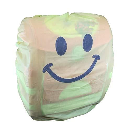 Schulranzen Regenüberzug aus Polyester mit Reflektor-Gesicht, Aufbewahrungstasche und Gummizug, Maße: ca. 90 x 80 cm Rucksackschutz Ranzenüberzug Regenschutzhülle