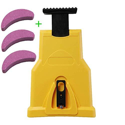 Kettensägen-Kettensägenschärfer für die Holzbearbeitung, Hochleistungs-Stangenschärfer mit Schleifstein, automatisches Schärfen der Kettenblätter und schnelles Kettenschleifwerkzeug,(Rot)