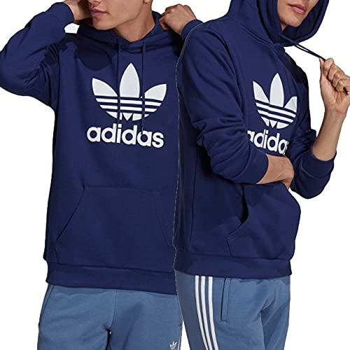 Adidas - Sudadera con capucha para hombre Adicolor Classics Trefoil Color Azul Cód: H06664, turquesa, M