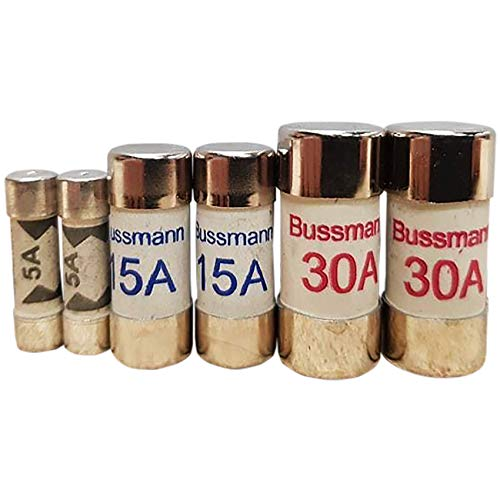 5, 15 & 30 amp mixed fuses (2 of each) BS1361 cartridge fuse consumer unit fuse box distribution board spares by Bussmann