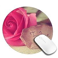 丸型マウスパッド ゲーミングマウスパッド 母の日 おしゃれ オフィス自宅兼用 滑り止めゴム底 耐洗い表面 厚地 精密度アップ 光学式マウス対応 20*20cm 厚さ3mm