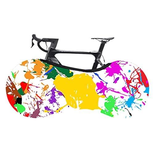Mingtongli Rueda de Bicicleta de montaña Camino de la Bicicleta Anti-Polvo Bolsa de Almacenamiento elástico Resistente a los arañazos de Neumáticos Paquete, de inyección de Tinta de Colores, L