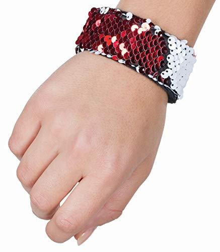 Rubies 6190717-STD - Pulsera para Disfraz, Color Rojo y Blanco