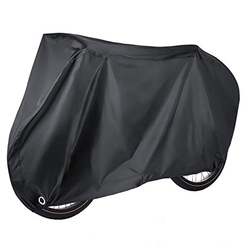 Elezenioc Bike Cover,Bike Covers for Outside Storage for 2 Bikes Waterproof 190T Nylon, Windproof Anti UV Bicycle Cover with Lock Hole,Bike Accessories Cover for Mountain & Road Bikes(Up to 29')