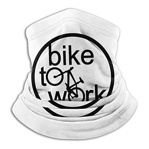 fuwahahah Bike To Work 1 Polaina unisex multifuncional de microfibra a prueba de polvo, pasamontañas, bandanas, calentador de cuello bufanda para clima frío deportes al aire libre