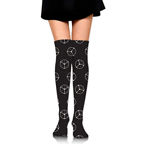 Sugar Skull With Roses Unisex Novelty Knee High Socks Athletic Tube Stockings One Size
