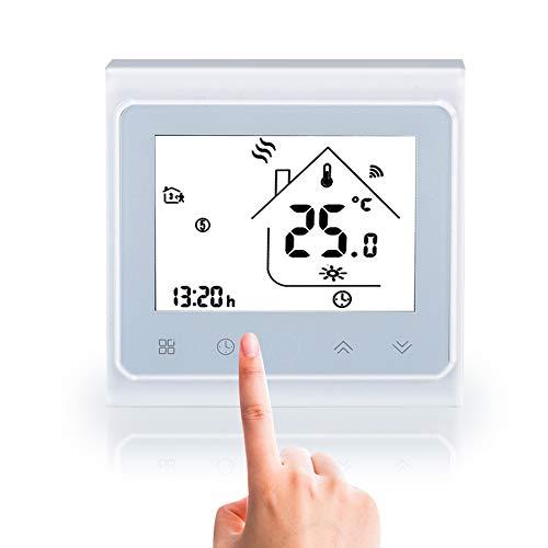 Termostato Inteligente, Controlador WiFi, Ahorro de Energía, Almacenamiento Más Preciso y Flexible, Pantalla Táctil LCD para Aire Acondicionado Central
