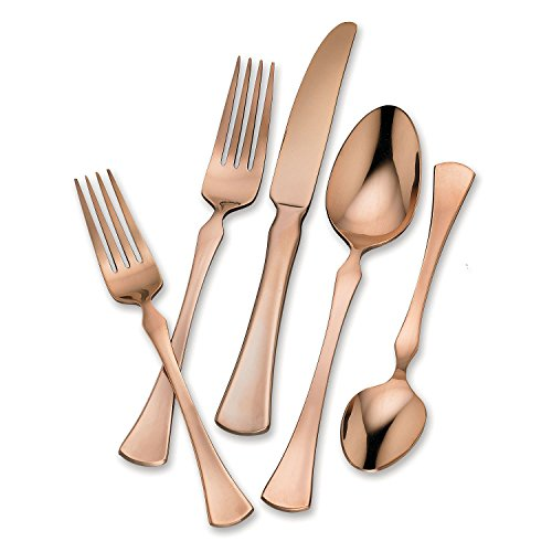 Hampton Forge 20-Piece Stainless Steel Flatware Set (Refined Copper)