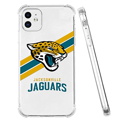 Clear iPhone 11 Case Football Team Emblem Soft Scratch-Resistant TPU Case Stripe Pattern Kawaii Cool Unique Funny Stylish Fashion Design with Shockproof Protective