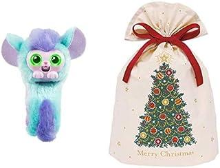 くるっと チャッティーペッツ パープルハムスター + インディゴ クリスマス ラッピング袋 コットンバッグL クリスマスツリー グリーン XG609