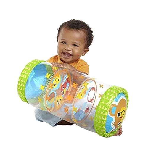 Rodillo inflable para bebés recién nacidos para gatear y de pie ejercicio y entrenamiento Niños Animales Amigos Jumbo Roller Juguetes para bebés Centro de actividad de barriga