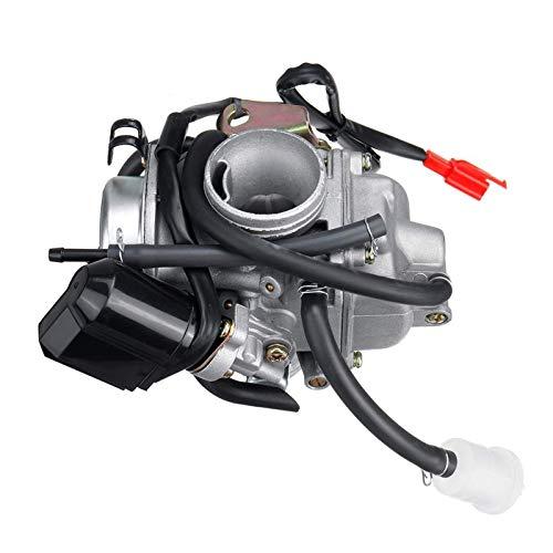 Kits de carburador de Motocicleta de 24 mm Compatible para GY6 Bicicletas del Pozo de la Suciedad de la Vespa del ciclomotor del Kart del Motor de 100cc 125cc 150cc 200cc XIAOYING