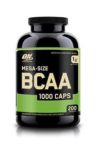 Optimum Nutrition ON BCAA 1000, BCAA Kapseln Reich an Essentiellen Aminosäuren Komplex, L-Leucin, L-Isoleucin und L-Valin, 100 Portionen, 200 Kapseln