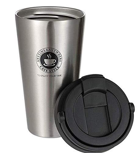 chimaera Yierya Coffee to go Becher,Doppelwandig Vakuumisolierter Coffee Mug,Edelstahl Coffee Becher (Silver)