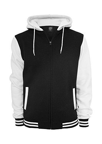 Urban Classics Herren Jacke Bekleidung Zip Hoody mehrfarbig (Blk/wht) XX-Large