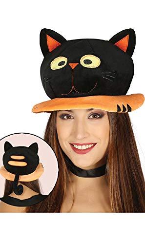 Guirca süßer Katzen Hut für Erwachsene Halloween Horror Party Zubehör Katze Mütze Kopf
