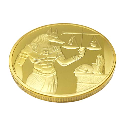 PRETYZOOM Gold Gedenkmünze Anubis Münze Alten Ägypten Münze Kunstsammlung Münze Dekorative Münze Souvenir Geschenk Sammlerstück Spielzeug
