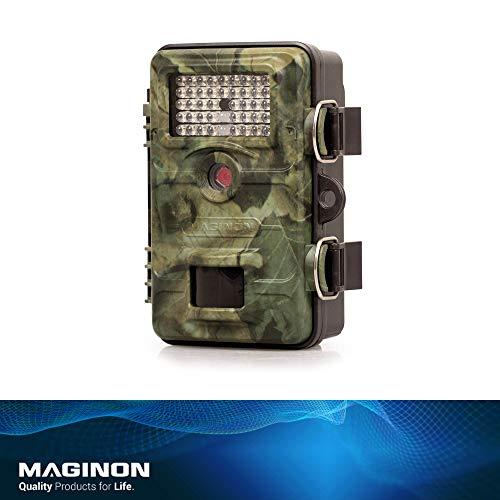 Maginon Wildkamera WK 4 HD WiFi, 4MP 1080P mit Infrarot-Nachtsicht bis zu 65 Fuß/20 m IP54 Spritzwassergeschützt für Outdoor-Natur, Garten, Haussicherheitsüberwachung, WiFi Bildübertragung