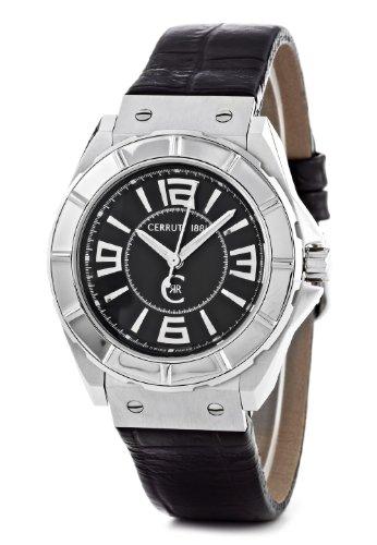 Cerruti 1881 Damen-Armbanduhr Analog Leder Schwarz CRA020A222B