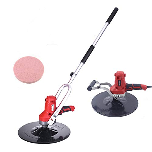 Concrete Cement Mortar Electric Trowel Wall Smoothing Polishing Machine with Extension rod 110V Multi-function Sander Grinder wall plasterer All Copper Motor 375mm/14.76inch 850W