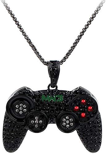 Unisex Alloy Game Machine Controller Griff Halskette Hip Hop Anhänger Punk Strass Lange Halskette Schmuck für Frauen Männer