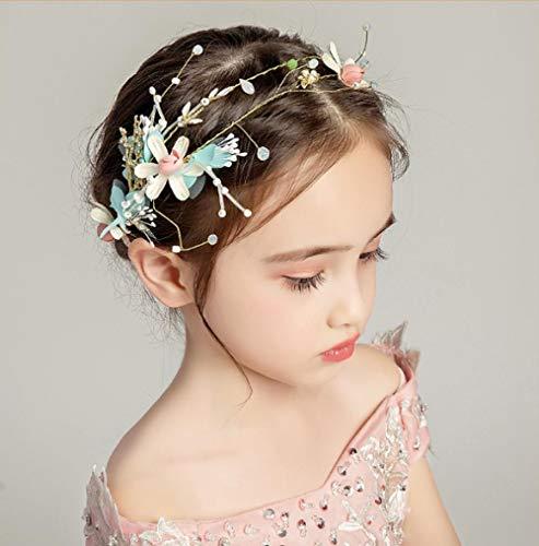 Mädchen Haarschmuck Kinder Kopfschmuck Girlande Schmuck Kleid Zubehör Farbe Corolla Stirnband Kinder Blumenmädchen Show Haarband