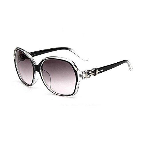 Gespout Sonnenbrille Frauen Mädchen Sonnenschutz Polarisierte Kunststoffe Glasses Gläser für Geschenk Strand Reise Geburtstag 1pcs Grau